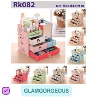 Rak Kosmetik Kayu Kotak Tempat Makeup Bermotif RK082 Buatan Pabrik