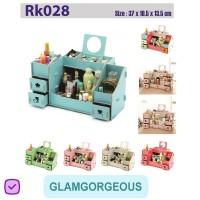 Rak Kosmetik Kayu Kotak Tempat Makeup Bermotif RK028 Buatan Pabrik