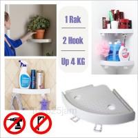 Rak dinding tembok sudut Adhesive Suction rumah kamar mandi dapur