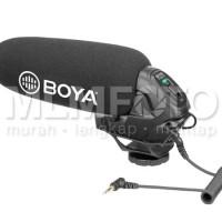 BOYA BY-BM3030 supercardioid condenser shotgun microphone on camera