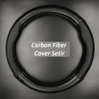 Cover Setir Carbon Fiber Sporty Black universal toyota daihatsu nissan