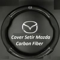 Cover Setir Mazda 2 CX3 CX5 CX7 Biante Carbon Fiber Sporty Black