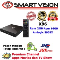 Android TV BOX X96 QuadCore 2GB/16GB Kodi Sudah disetting + Iptv free