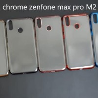 Zenfone max pro M2 SHINING CHROME TPU CASE CLEAR Silicone Case