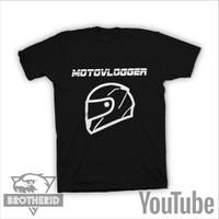 Kaos Motovlogger Tshirt Baju Youtuber Youtube Motovlog