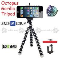 Octopus Gorilla MEDIUM SIZE Tripod With Holder U for Smartphone / HP