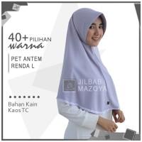 Jilbab Instan Pet Antem Renda L / Hijab Kaos Bergo Pet RENDA Size L