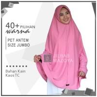Jilbab Instan Pet Antem Size SUPER JUMBO / Hijab Kaos Bergo Pet Syari