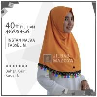 Jilbab Instan Najwa Tassel M / Hijab Non Pet Bergo Tassel M