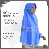 Jilbab Instan Pet Antem Renda Jumbo / Hijab Kaos Bergo Renda Jumbo