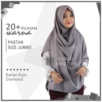 Jilbab Pashmina Instan Jumbo / Pastan Zakia Diamond Crepe Syari