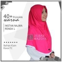 Jilbab Instan NAJWA RENDA L / Hijab Kaos Bergo NAJWA RENDA Size L