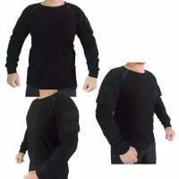 Baju Kaos Tactical Lengan Panjang Hitam Polos
