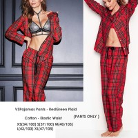VICTORIA SECRET Red Green Plaid Pajamas Pants Celana Panjang Branded