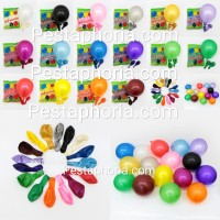 Balon Latex Metalik 12 inch Grosir isi 100 pcs / pack