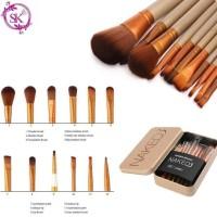 [ Isi 12 Kuas ] Make Up Brush Na*ked 3 / NAK*ED3 Brush Set Kit