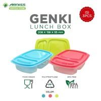 Arniss Genki Bento Bako - BB-0109 / Set Lunch Box / Tempat Makan