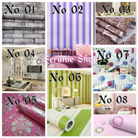 Wallpaper sticker dinding ukuran 45 cm x 10 m