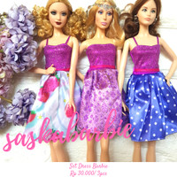 022 / Baju Barbie ( 3dress ) / Barbie Doll / Boneka / Original Mattel