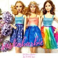 016 / Baju Barbie ( 3dress ) / Barbie Doll / Boneka / Original Mattel