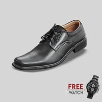 Jual Sepatu Formal Pria S Van Decka J-TK021 Free Jam Tangan Sport Murah