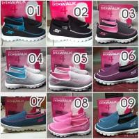 Sepatu Wanita Skechers Go Walk Rajut Slip on