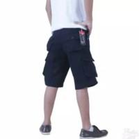 celana cargo original hitam - celana pendek best quality