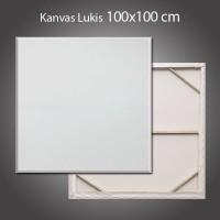 Kanvas Lukis + Spanram 100x100 cm