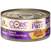 Wellness CORE Pate Chicken, Turkey Chicken Liver Kitten Can 5.5oz