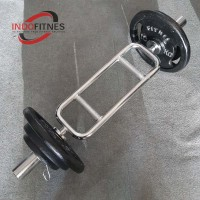 Paket Gym Stick Tricep Bar 5cm + Plate beban besi Dumbell Barbel
