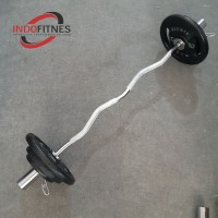 Paket Gym Stick EZ Curl Bar 5cm + Plate beban besi Dumbell Barbel