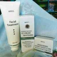 paket ertos pemutih cream siang malam dan facial treatment erto s prod