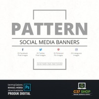 PATTERN - Social Media Banners | Facebook Instagram Twitter Template