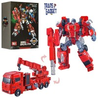 WeiJiang Metal Robot 5 in 1 Transformers Valiant General - Crane Truck