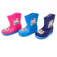 Sepatu boots anak / sepatu hujan / karet / lucu / sepeda - 6618