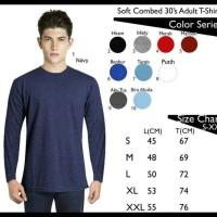 HEMAT Kaos Polos Lengan Panjang Combed 30s PROMO SPECIAL