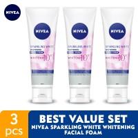 Harga nivea sparkling white whitening facial foam best value | Pembandingharga.com