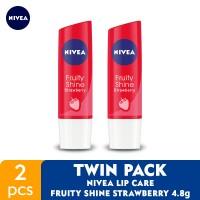 NIVEA Lip Care Fruity Shine Beauty Stick Strawberry 4.8gr - Twin Pack