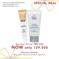 Paket Healthy Glow Foundation & Facial Cleanser For Sensitive Skin