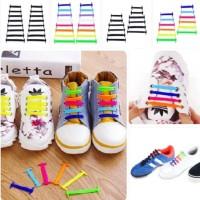 Premium Shoe Laces Silicone / Tali Sepatu Silikon anak anak