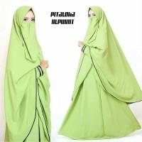 Gamis Syari Pitaloka Plus Niqab Alpukat