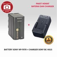 PAKET BATERAI SONY NP-F970 + CHARGER BC-V615
