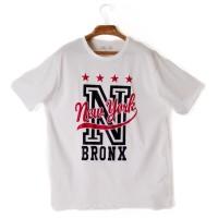 6a54329ec935 Baju Kaos T-Shirt Tumblr Tee Pria White NYC (XL) Import Original