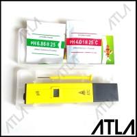 Alat Ukur PH Meter Tester Hidroponik ATC Dengan Kotak + Buffer EU001