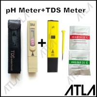 Paket TDS TDS Tester Digital + PH Meter Alat Hidroponik EU001+2