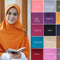 Hijab Segi Empat Jumbo Syar'i Wolfis Fashion Style Hijabers Terbaru