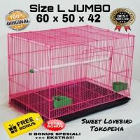 Kandang Kucing SIZE L (60X42X50) Sweet Original KHUSUS GOJEK GO-SEND