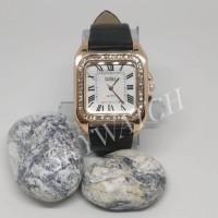 jam tangan wanita KMS 3001- HITAM tali latex glitter / jam tangan cewe