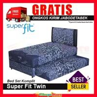 Comforta Kasur Springbed Super Fit Twin 2in1 uk 120x200 - Full Set