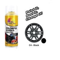 Carlas Rubber Paint Black Doff / Hitam C4 (400ml) -Cat Velg